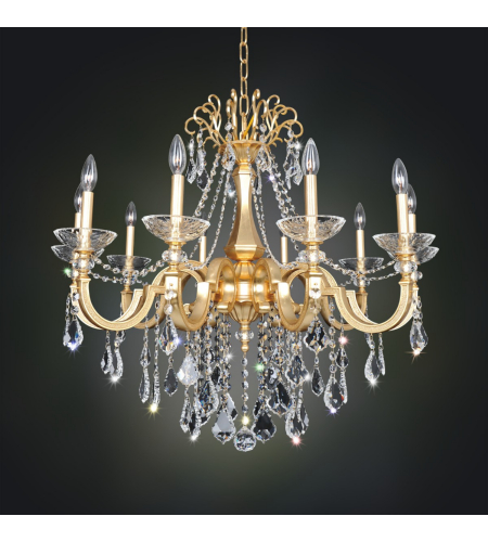 Allegri 025452 Barret 10 Light Chandelier In French Gold / 24k