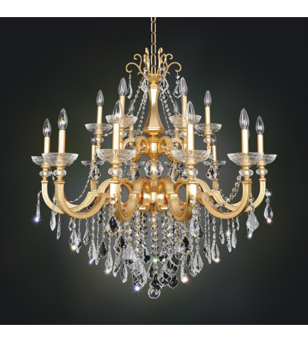 Allegri 025453 Barret 18 Light Chandelier In French Gold / 24k