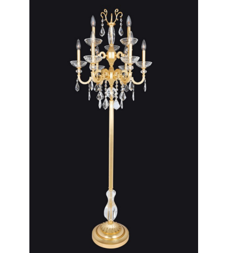 Allegri 025490 Barret 9 Light Floor Lamp In French Gold / 24k