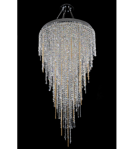 Allegri 028252 Tenuta 32 Inch Convertible Pendant/Flush Mount In Chrome