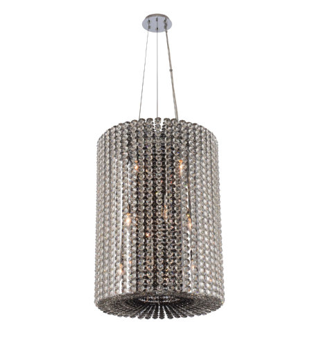 Allegri 031450 Anello 6 Light Foyer Pendant In Chrome