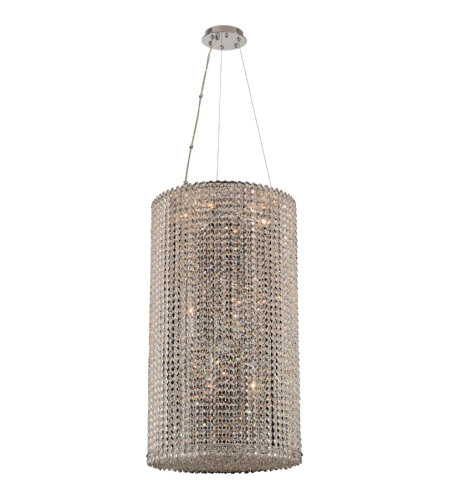 Allegri 032050 Torre 12 Light Foyer Pendant (Small) In Chrome