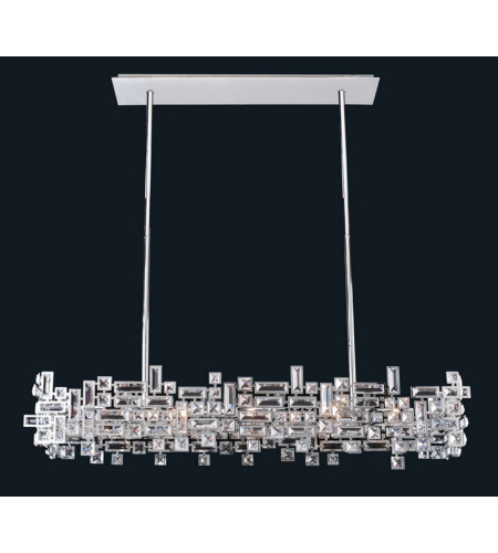 Allegri 11199-010-SE001 Vermeer 8 Light Island Light in Chrome