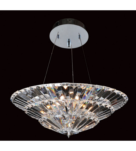 Allegri 11426-010-FR001 Auletta 24 Inch Convertible Round Pendant/Flush Mount in Chrome