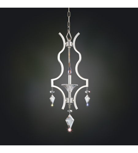 Allegri 11674 Florence 1 Light Mini Chandelier In Tarnished Silver