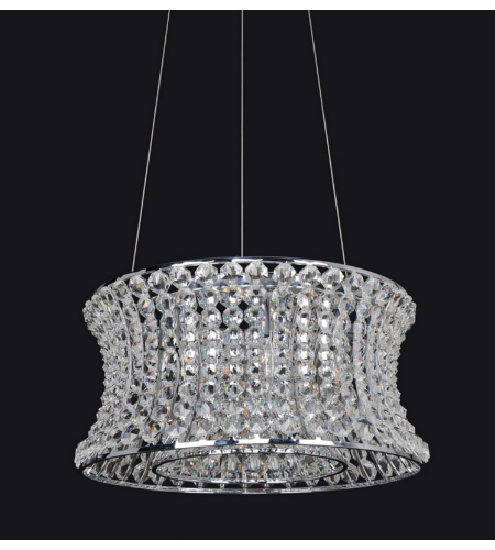 Allegri 11731 Corsette 24.5 Inch Round Pendant In Chrome