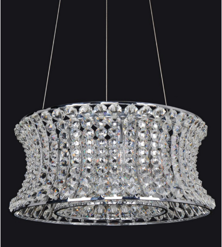 Allegri 11732 Corsette 32 Inch Round Pendant In Chrome
