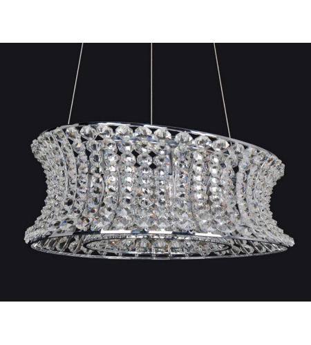 Allegri 11733-010-FR001 Corsette Oval Round Pendant in Chrome