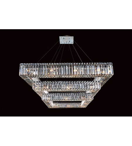 Allegri 11780-010-FR001 Quadro 3 Tier Round Pendant in Chrome