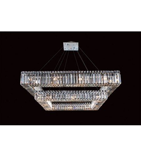 Allegri 11781-010-FR001 Quadro 2 Tier Round Pendant in Chrome