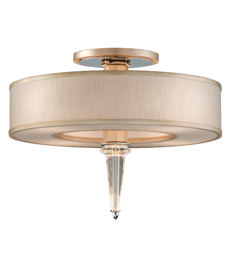 a055360bc Corbett Lighting 166-34 4 Light Harlow 4 + 4lt Ceiling Semi-Flush In  Tranquility Silver Leaf W Polished Stainless | FoundryLighting.com