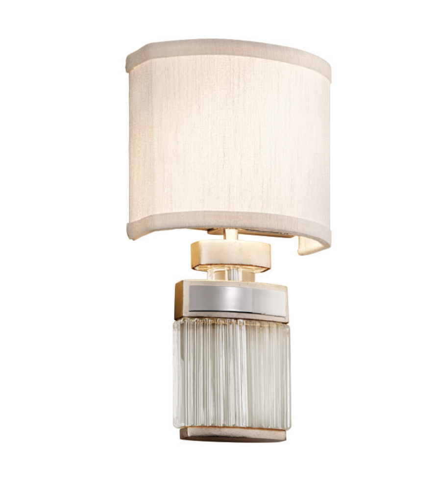 Corbett lighting 197 12 2 light small talk 2lt wall sconce in modern silver leaf w polished stainless