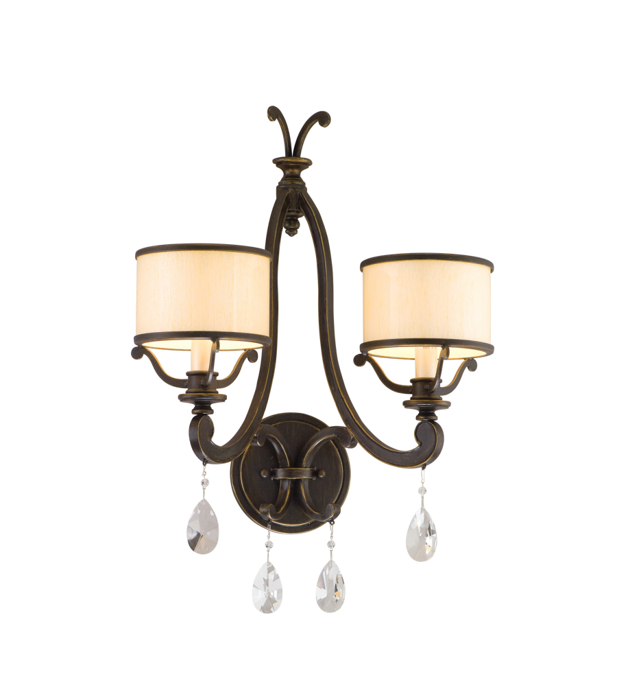 info for a7bad 65f9f Corbett Lighting 86-12 2 Light Roma 2lt Wall Sconce In Classic Bronze
