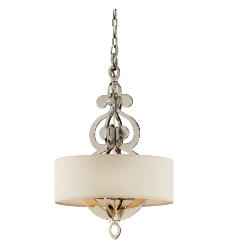 Corbett Lighting 102-44 4 Light Olivia 4-Lt Pendant In Polished Nickel