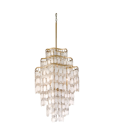 Corbett Lighting 109-47 7 Light Dolce 7lt Pendant In Champagne Leaf