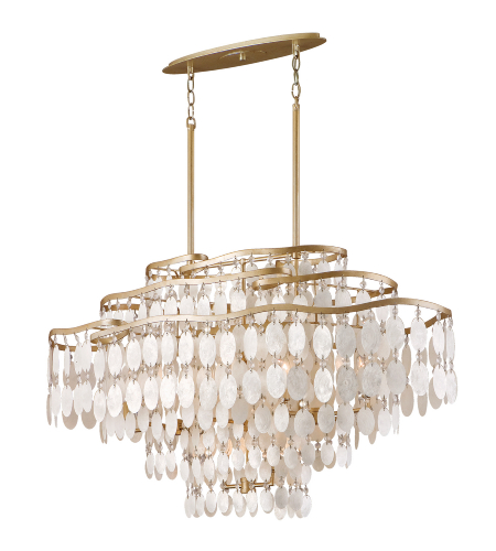 Corbett Lighting 109-512 12 Light Dolce 12lt Island In Champagne Leaf