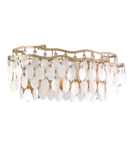 Corbett Lighting 109-63 3 Light Dolce 3lt Bath In Champagne Leaf