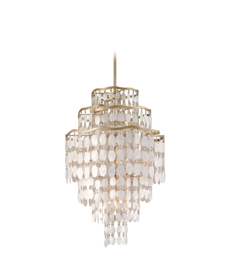 Corbett Lighting 109-712 12 Light Dolce 12lt Pendant Tall In Champagne Leaf