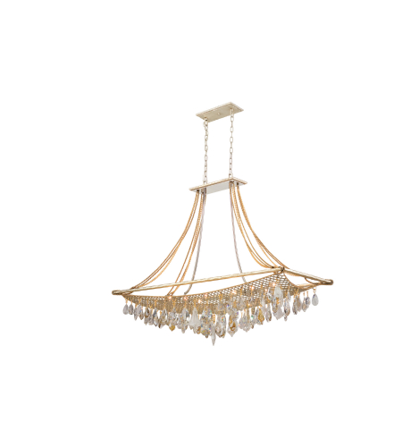 Corbett Lighting 125-512 Barcelona 12lt Island In Silver And Gold Leaf