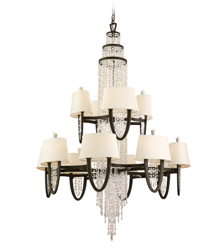 Corbett Lighting 130-024 24 Light Viceroy 16+8lt Chandelier In Royal Bronze