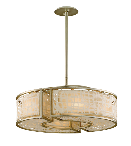 Corbett Lighting 131-46 6 Light Kyoto 6lt Pendant In Silver Leaf