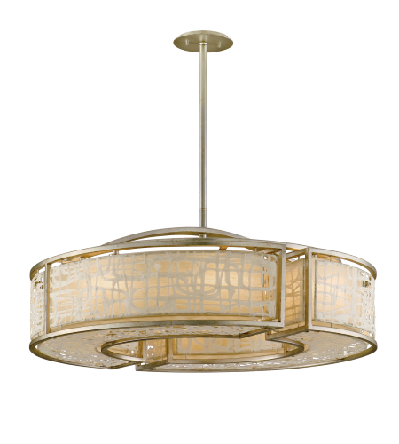 Corbett Lighting 131-48 8 Light Kyoto 8lt Pendant In Silver Leaf