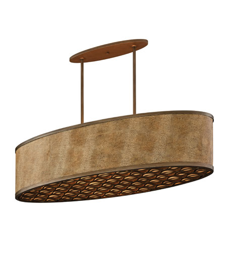 Corbett Lighting 135-56-F Mambo 6lt Island Fluorescent 6-18w Gu24in Mambo Bronze