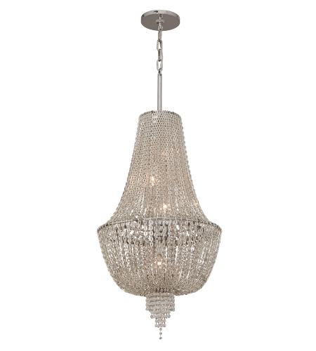 Corbett Lighting 141-45 5 Light Vixen 5lt Pendant In Polished Nickel