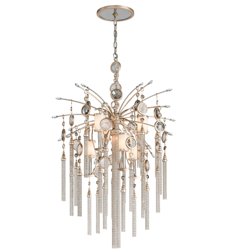 Corbett Lighting 162-47 6 Light Bliss 6 + 1lt Pendant In Topaz Leaf