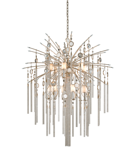 Corbett Lighting 162-713 12 Light Bliss 12 + 1lt Pendant In Topaz Leaf
