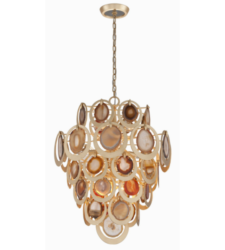 Corbett Lighting 190-410 10 Light Rockstar 10lt Pendant In Gold Leaf