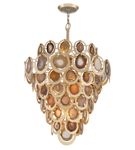 Corbett Lighting 190-416 16 Light Rockstar 16lt Pendant In Gold Leaf