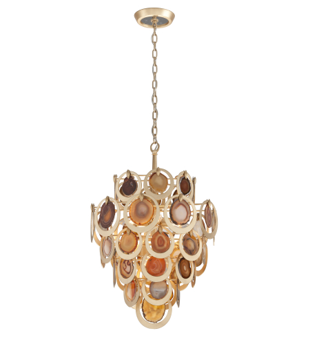 Corbett Lighting 190-46 6 Light Rockstar 6lt Pendant In Gold Leaf