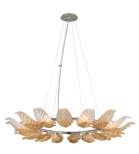 Corbett Lighting 222-48 Anello 8lt Pendant In Gold Leaf W/Polished Stainless Accents
