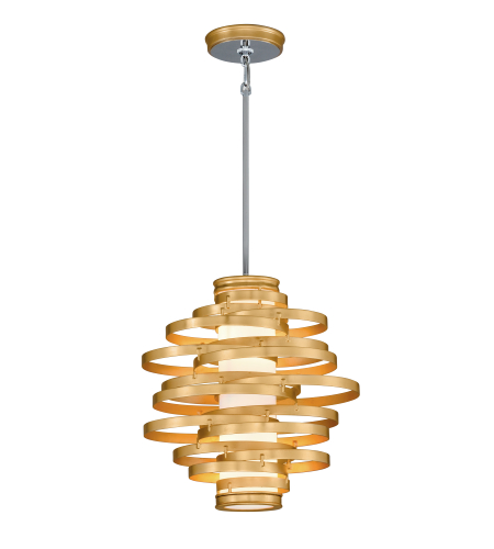 Corbett Lighting 225-42 2 Light Vertigo 2lt Pendant In Gold Leaf