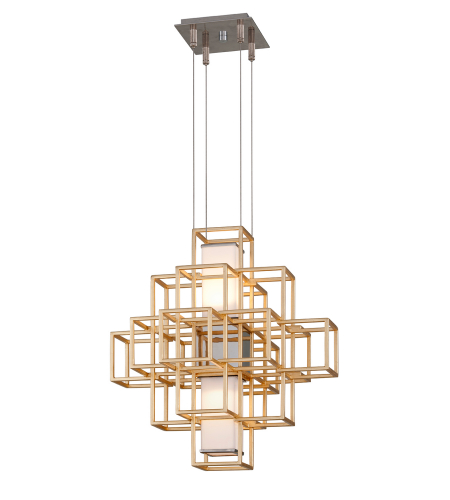 Corbett Lighting 242-41 2 Light Metropolis 2lt Pendant In Gold Leaf