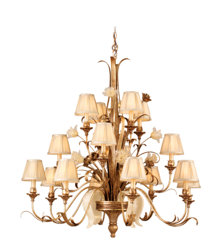 Corbett Lighting 49-016 16 Light Tivoli 16lt Chandelier In Tivoli Silver