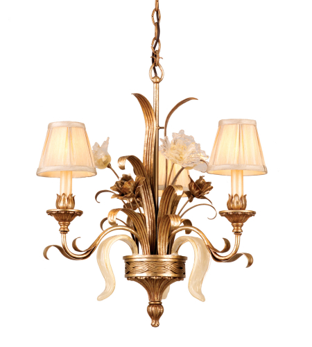 Corbett Lighting 49-03 3 Light Tivoli 3lt Chandelier In Tivoli Silver
