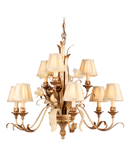 Corbett Lighting 49-09 9 Light Tivoli 9lt Chandelier In Tivoli Silver