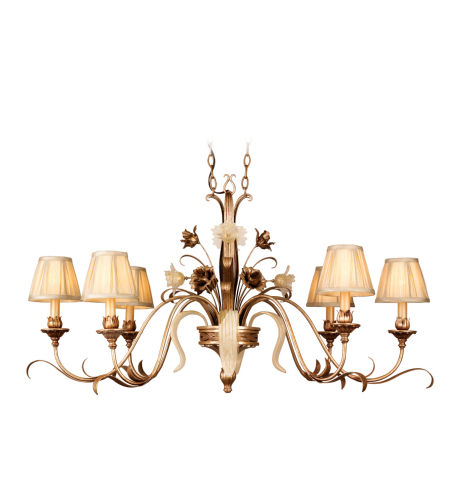 Corbett Lighting 49-53 6 Light Tivoli 6lt Island In Tivoli Silver