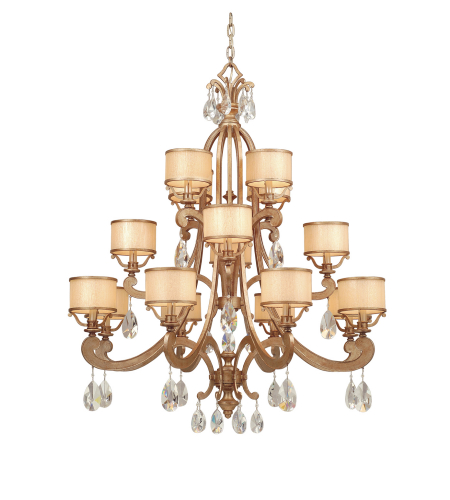 Corbett Lighting 71-016 8 Light Roma 16lt Chandelier In Antique Roman Silver