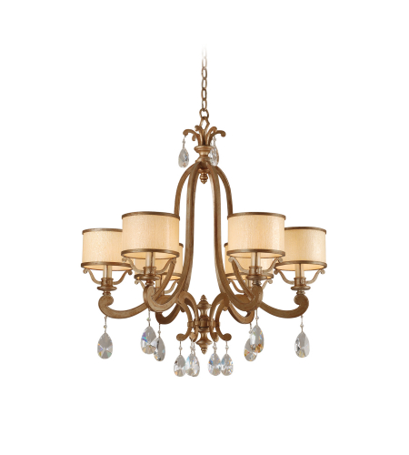 Corbett Lighting 71-06 6 Light Roma 6lt Chandelier In Antique Roman Silver