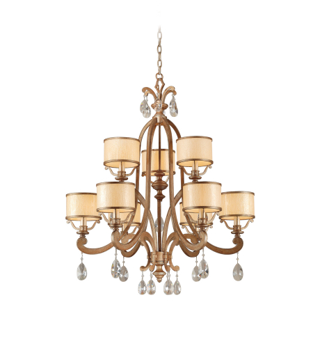 Corbett Lighting 71-09 6 Light Roma 9lt Chandelier In Antique Roman Silver