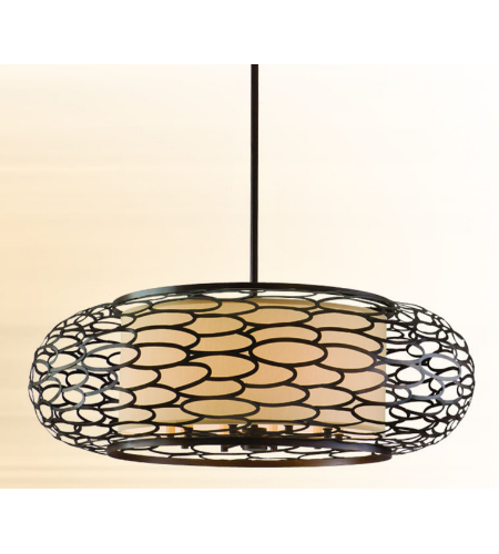 Corbett Lighting 79-410 10 Light Cesto 10lt Pendant In Napoli Bronze