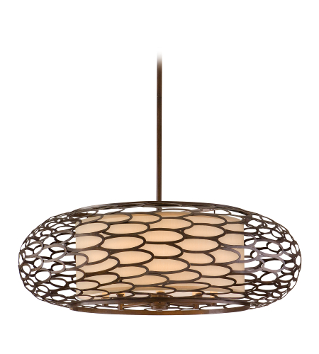 Corbett Lighting 79-48 8 Light Cesto 8lt Pendant In Napoli Bronze