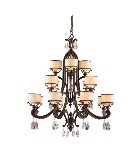 Corbett Lighting 86-016 8 Light Roma 16lt Chandelier In Classic Bronze