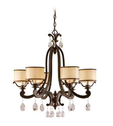 Corbett Lighting 86-06 6 Light Roma 6lt Chandelier In Classic Bronze