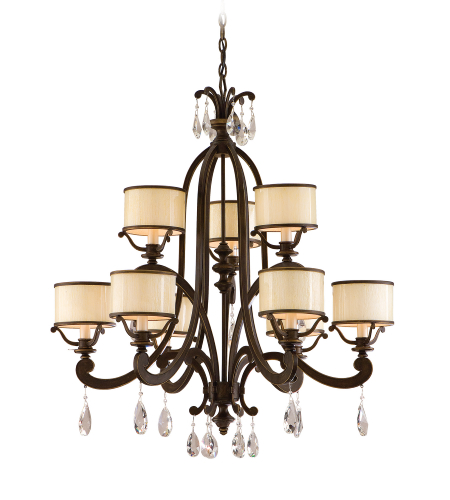 Corbett Lighting 86-09 6 Light Roma 9lt Chandelier In Classic Bronze