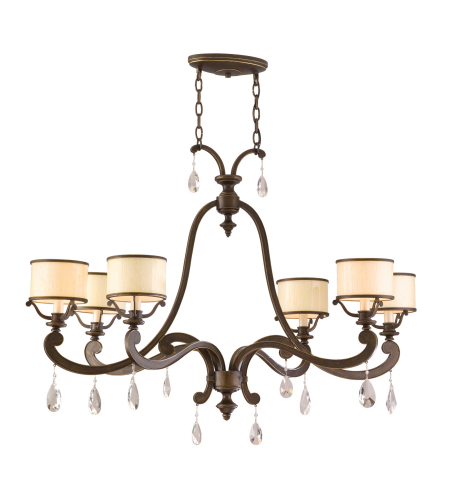 Corbett Lighting 86-56 Roma 6lt Islandin Classic Bronze