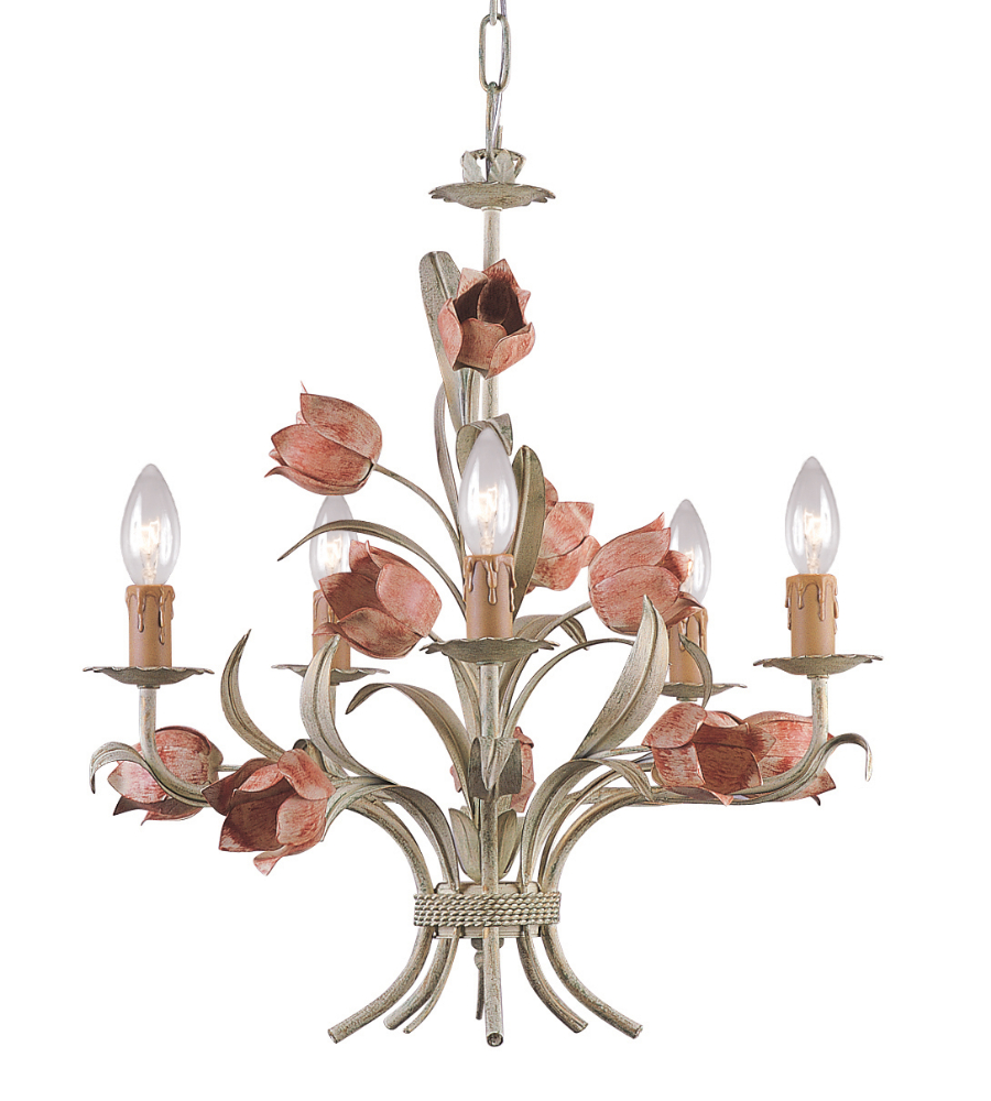 Love The Wall Finishes Chandelier And The Overall Tuscan: Crystorama 4805-Sr Southport 5 Light Chandelier In Sage